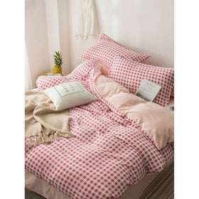 Gingham Print Sheet Set