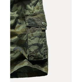Men Pocket Decoration Camo Shorts