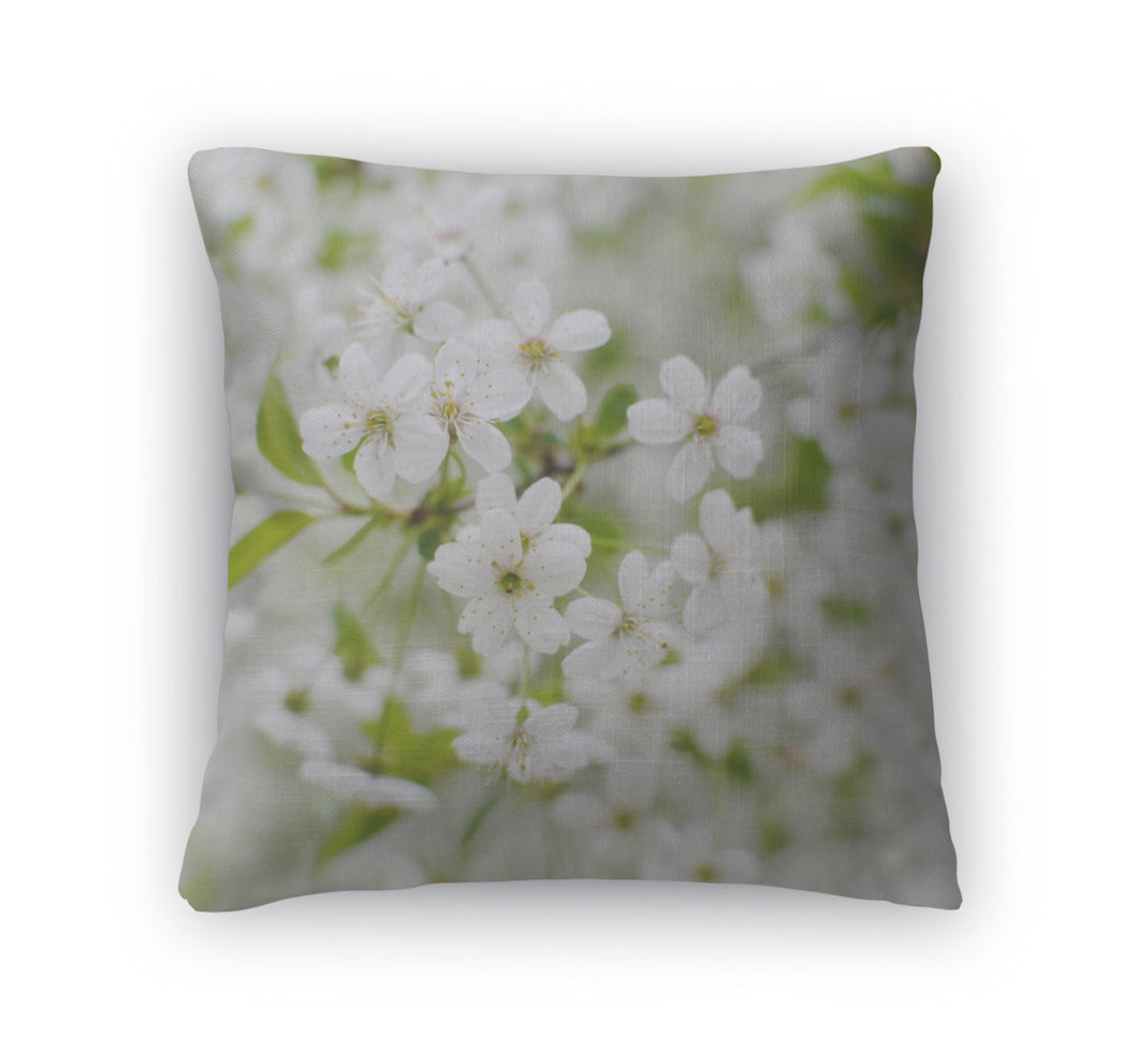 Throw Pillow, Spring Blossom Blossomflower Cherry Flower Love Kiev Ua UKraine