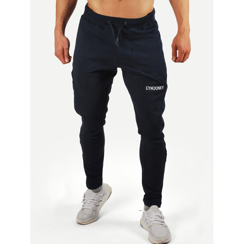 Men Letter Print Drawstring Waist Pants