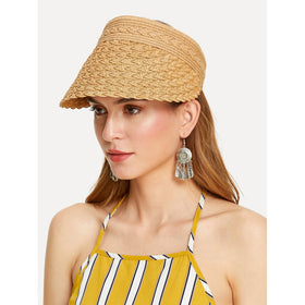 Velcro Back Straw Visor Hat