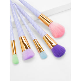Multi Color Bristle Makeup Brush 5pcs