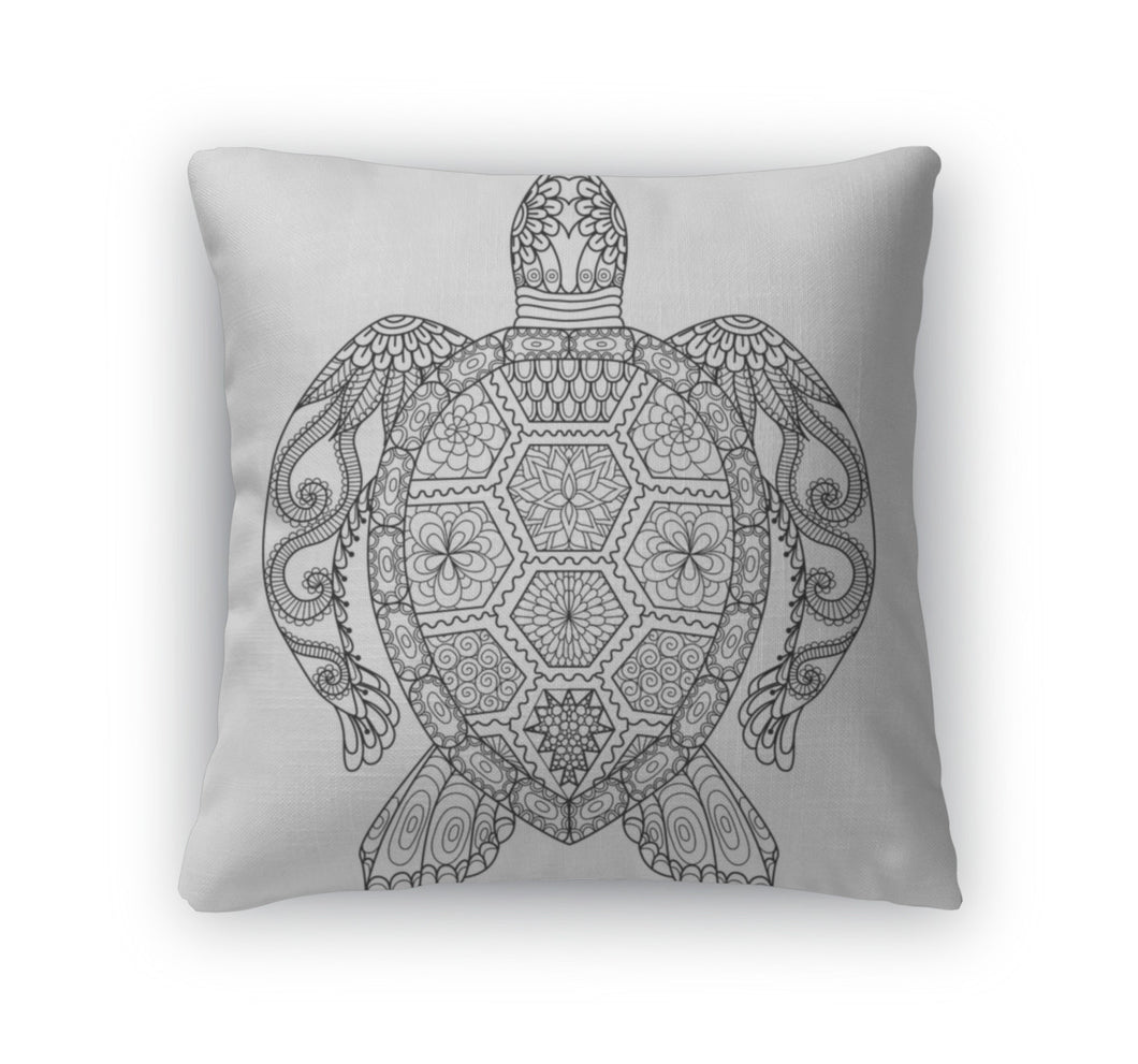 Throw Pillow, Turtle Coloring Page