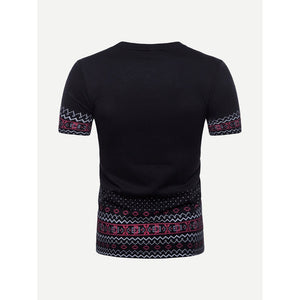 Men Geometric Print T-shirt