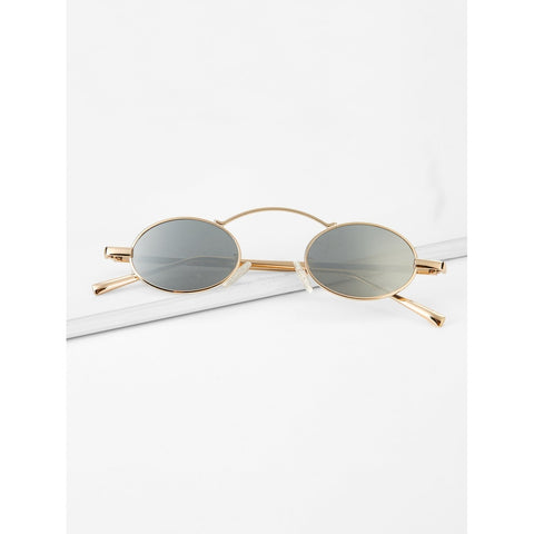 Top Bar Oval Lens Sunglasses