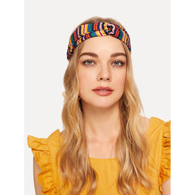 Multi Color Strip Twist Headband