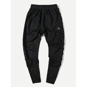 Men Lace Up Side Drawstring Pants
