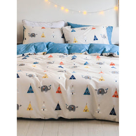 Geometric & Elephant Print Sheet Set