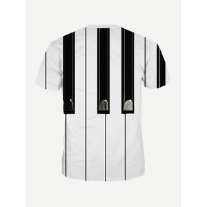 Men Piano Keys Print Tee