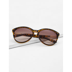 Two Tone Frame Mirror Lens Sunglasses