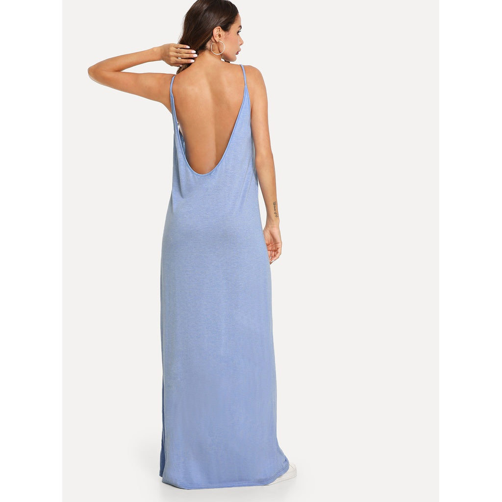 Scoop Neck Jersey Cami Dress