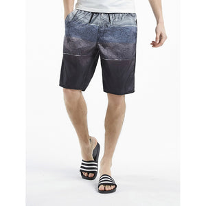 Men Drawstring Tie Dye Print Shorts