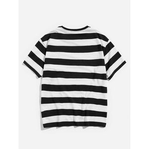 Men Colorblock Striped Tee