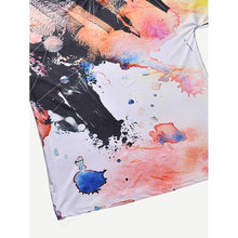 Men Watercolor Print Tee