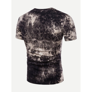 Men V Neck Tie Dye Tee