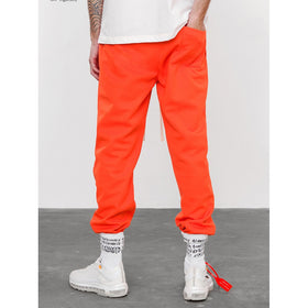 Men Striped Tape Side Pants