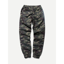 Men Drawstring Waist Camo Pants
