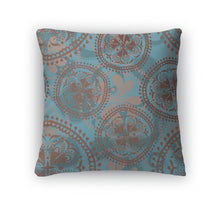 Throw Pillow, Abstract Oriental Pattern