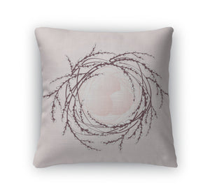 Throw Pillow, Decorative Easter Nest