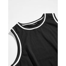 Men Striped Ringer Tank Top