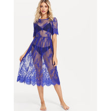 See Through Eyelash Lace Dress without Lingerie Set