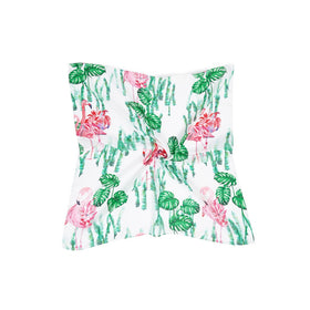 Jungle & Flamingo Print Bandana Scarf