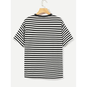Men Striped Ringer Tee