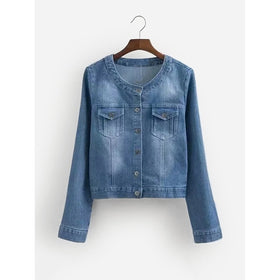 Single Breasted Denim Jacket