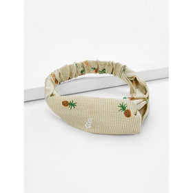 Pineapple Print Twist Headband