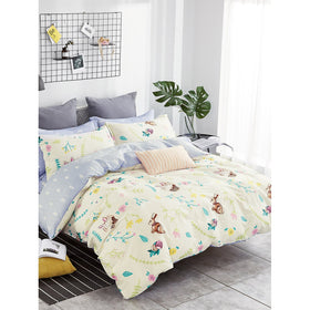 Rabbit & Plant Duvet Cover 1PC