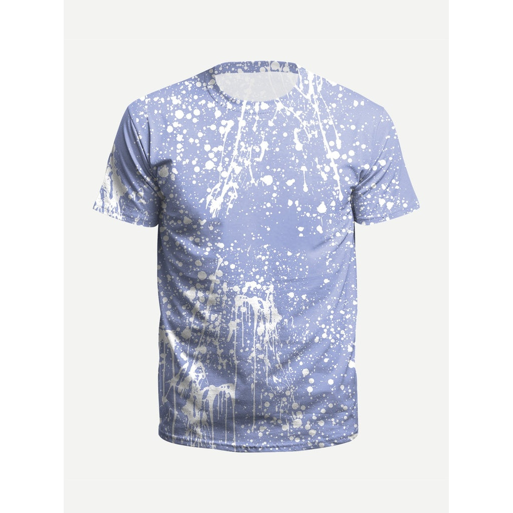 Men Paint Splatter Tee