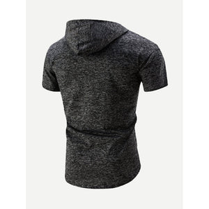 Men Space Dye Hooded Sweatshirt