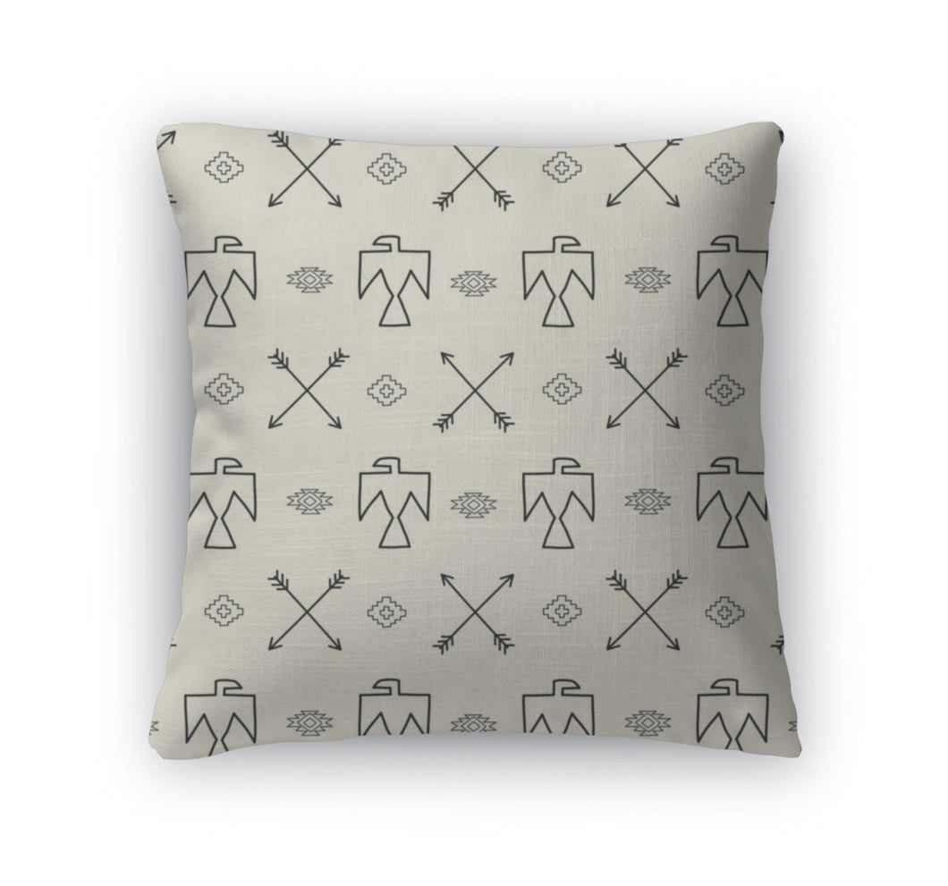 Throw Pillow, Pattern In Native American Style