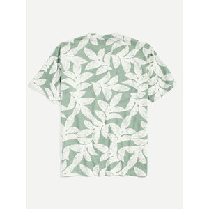 Men Allover Leaf Print Tee