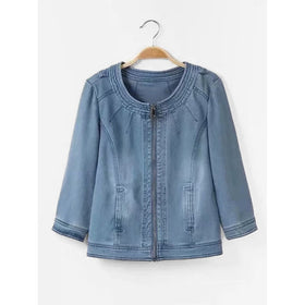 Zip Through Denim Jacket