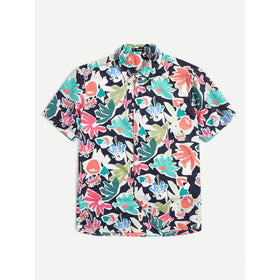 Men Tropical Print Shirt