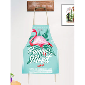 Flamingo & Tropical Print Apron