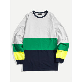 Men Raglan Sleeve Cut and Sew Sweatshirt