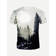 Men Forest Print Tee