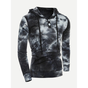 Men Tie Dye Hooded Sweatshirt