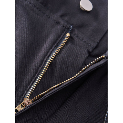 Men Pocket Detail Drawstring Waist Solid Pants