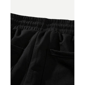 Men Pocket Drawstring Shorts