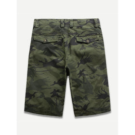 Men Camouflage Pocket Cargo Shorts