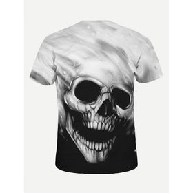 Men Halloween Skeleton Print Tee