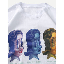Men Figure And Letter Print Tee
