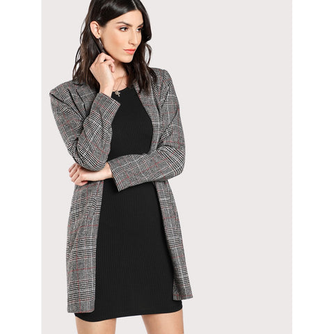 Plaid Boxy Coat
