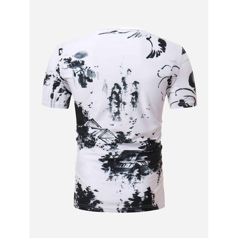 Men Ink Painting Tee