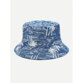 Palm Pattern Bucket Hat