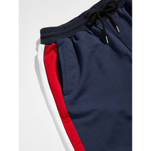 Men Color Block Tapered Sweatpants