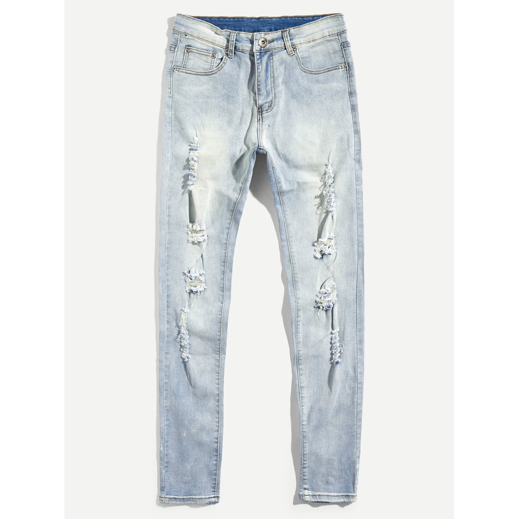 Men Destroyed Skinny Denim Pants